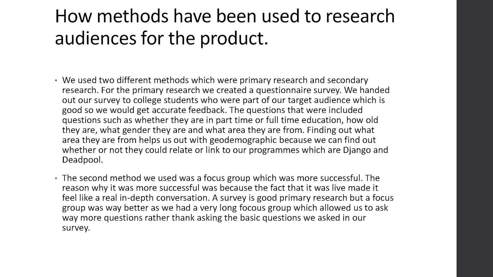 different methods of primary research Primary research is often based on principles of the scientific method and it is to learn about something new that can be confirmed by others and to eliminate our own biases in the process secondary research is called library research too, the different between primary research and.