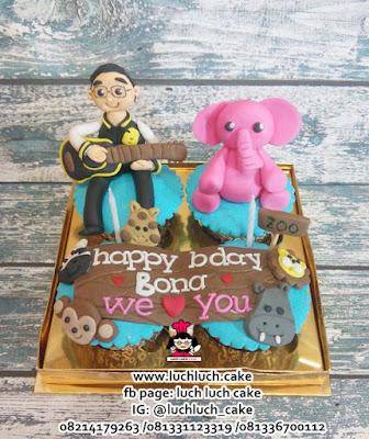 Cupcake Ulang Tahun Tema Binatang