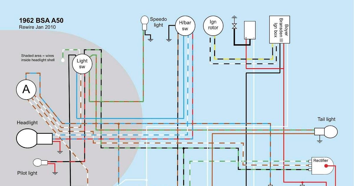 Old Bike Hack: BSA A50A65 wiring diagram