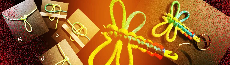 Tidak sulit membuat simpul capung untuk gantungan kunci. Mari simak tutorial berikut, dan miliki capung aneka warna pembawa keberuntunganmu! Untuk membuat dragonfly knot (simpul capung), sediakan tali satin sepanjang ± 80 sentimeter...