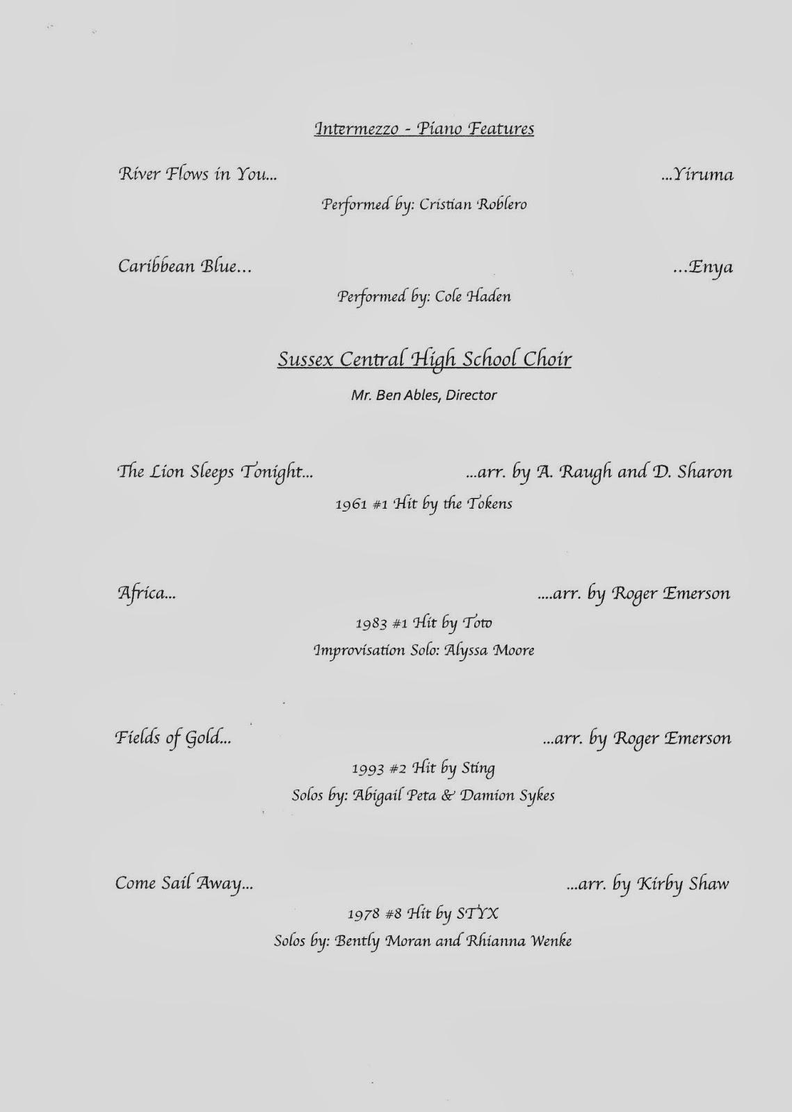 Suscentral High School Band Schs Pops Concert 3 12 14