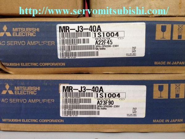 Tổng đại lý phân phối động cơ, bộ điều khiển AC Servo 0.4kW MR-J3-40A Mitsubishi, động cơ Motor HF-MP43, HF-KP43, HF-MP43B, HF-KP43B