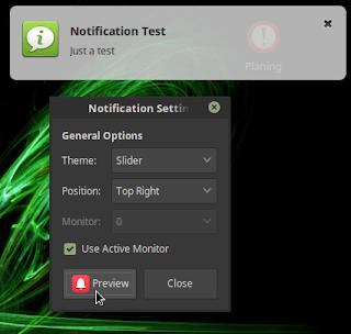 Mengatur Popup Notification di Linux Mint