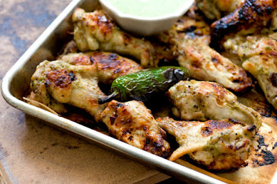 Salsa verde ranch wings | Homesick Texan