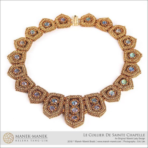 Beautiful Beaded Collar Tutorial with Swarovski crystals