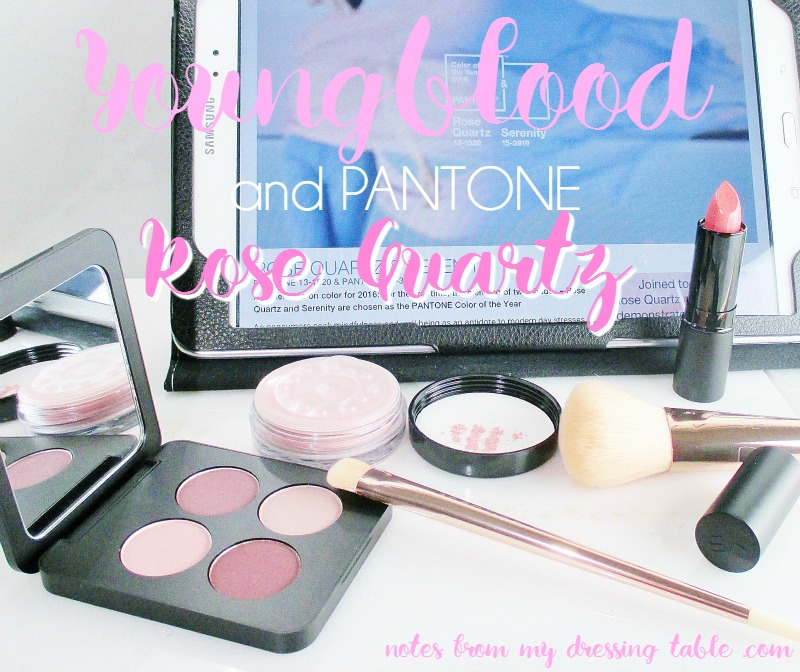 Youngblood and Pantone: Rose Quartz & Serenity Eyes and Lips-Colours of the Year-notesfrommydressingtable.com
