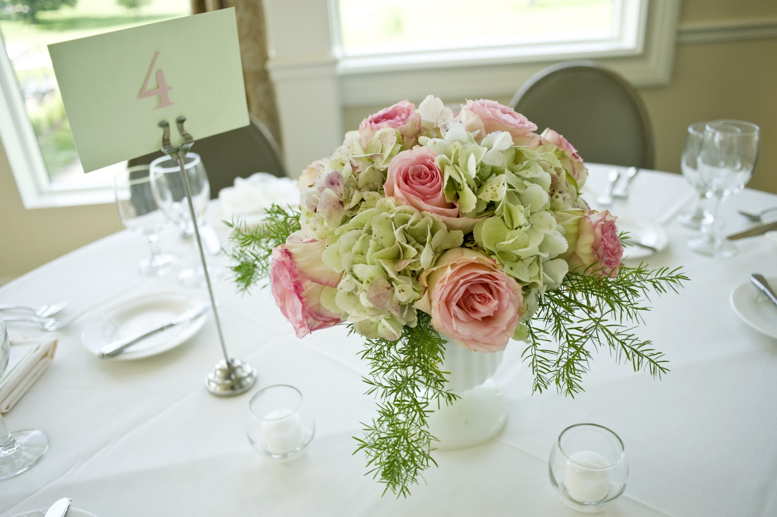 Simply Sophisticated: Milk Glass Wedding Centerpieces