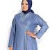 Model Desain Baju Muslim Untuk Wanita Gemuk Agar Terlihat Langsing