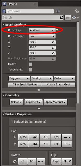 Brush settings - Additive