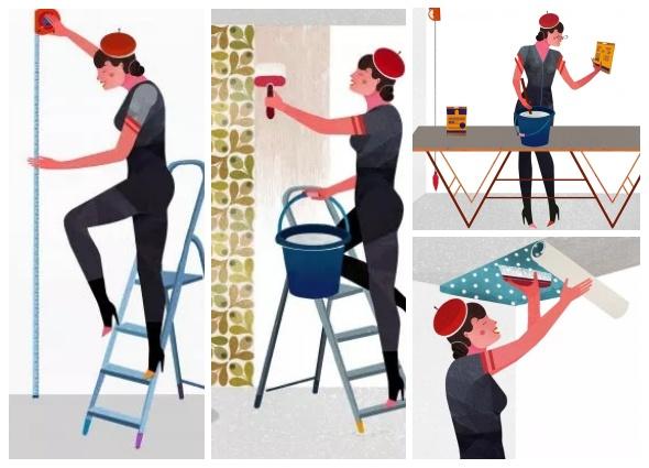 papel pintado, empapelar, decoración, manualidades, vintage, tutoriales