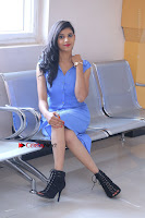 Telugu Actress Mounika UHD Stills in Blue Short Dress at Tik Tak Telugu Movie Audio Launch .COM 0201.JPG