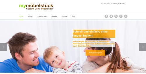 Die Startseite von my-moebelstueck.de