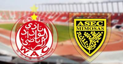 مشاهدة مباراة الوداد وأسيك ميموزا بث مباشر اليوم 11-1-2019 في دوري ابطال افريقيا
