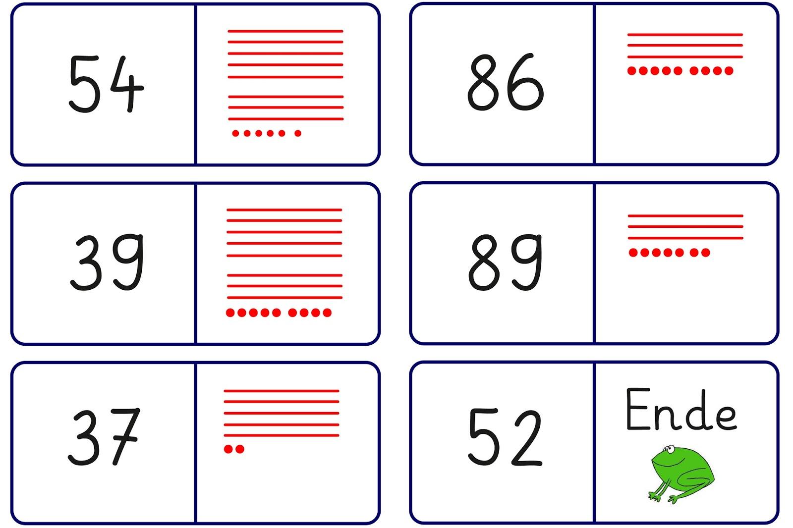 Lernstübchen: Domino zur Zahldarstellung (1)