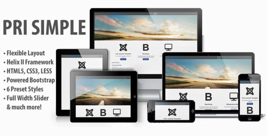 PRI Simple Template Joomla 3 3 ~ Free Template joomla 4