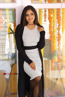 Telugu Actress Karunya Chowdary Stills in Black Dress at Soda Goli Soda Movie Opening  0317.JPG