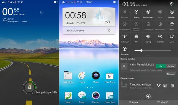 Custom ROM OPPO Mirror 3 ColorOS Xiaomi Redmi 2