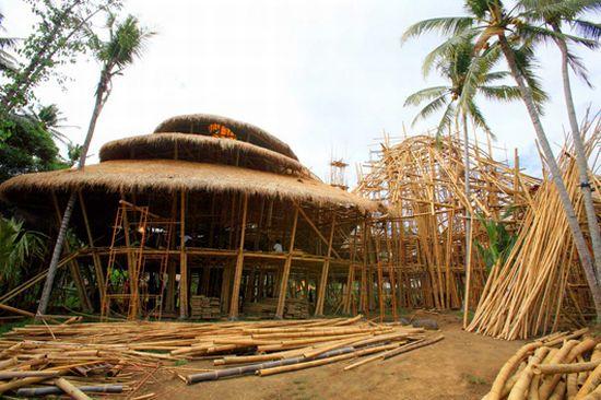 Arsitektur Bambu Green School Bali