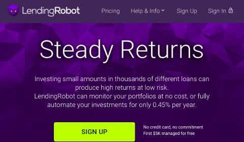 Accueil LendingRobot
