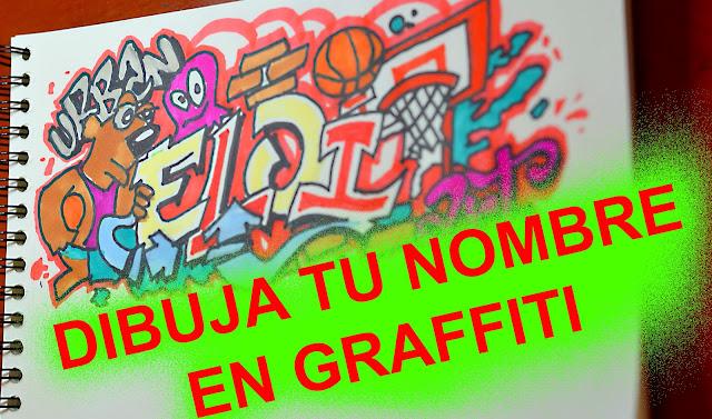 Como hacer tu nombre en graffiti Doodle Art basket
