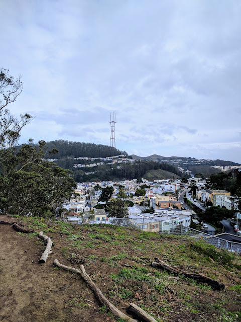 View of Twin Peaks from the 16th Avenue Tiled Steps in San Francisco
