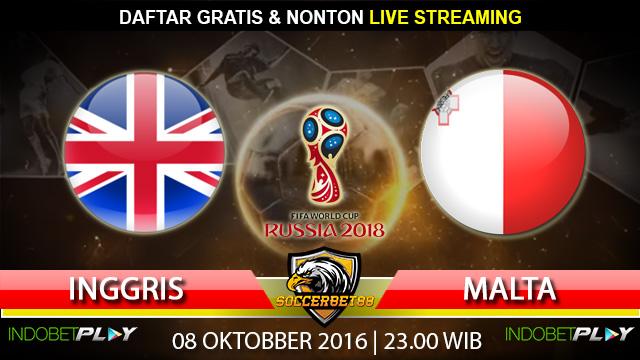 Prediksi Inggris vs Malta 08 Oktober 2016 (Piala Dunia 2018)