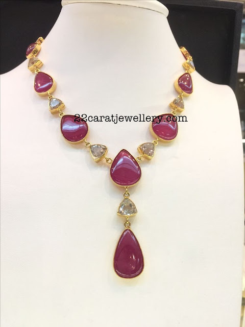 Classy Ruby Necklaces with Hangings