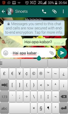 cara membuat huruf di coret di whatsapp