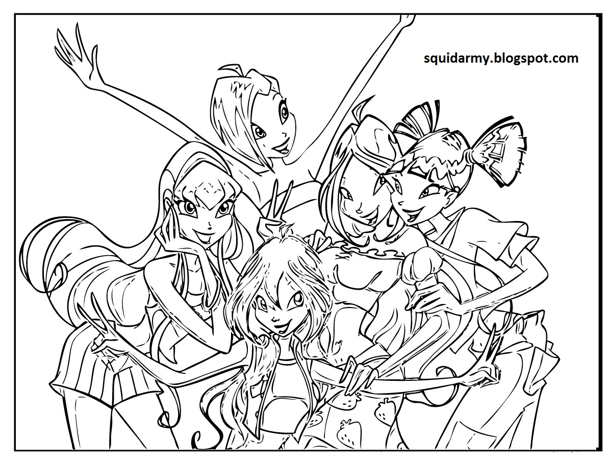 winx club christmas coloring pages | Winx club coloring pages - Squid Army