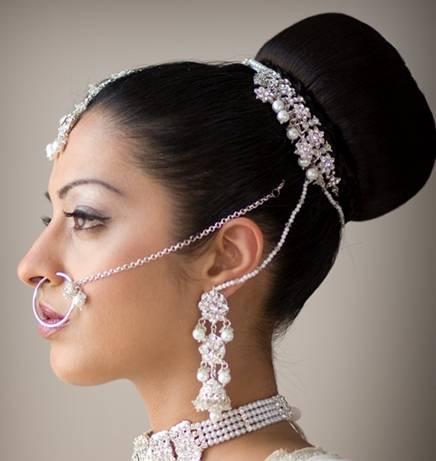 Indian Bridal Hairstyles ~ Bridal Wears