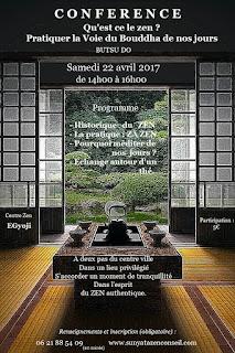 Conférence sur le ZEN à Brive La Gaillarde le sa 22 avril