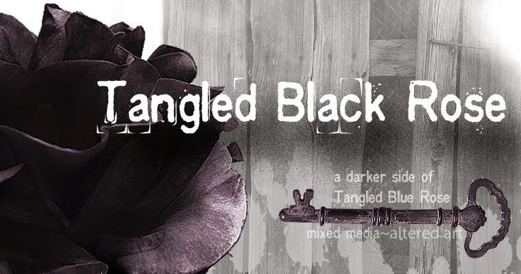 Tangled Black Rose