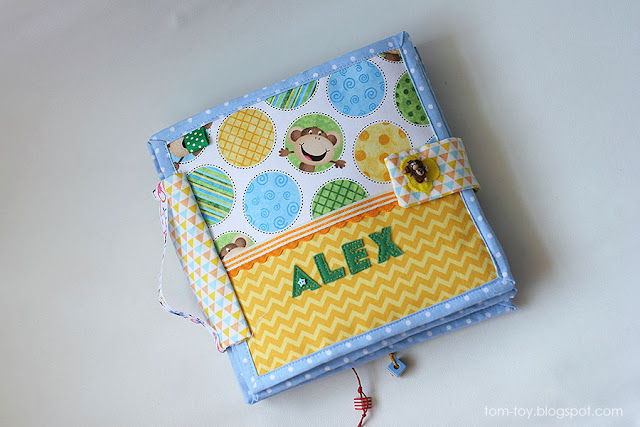 Handmade fabric quiet book for Alex, felt busy book, развивающая книжка