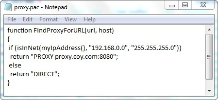 Build Proxy Pac File