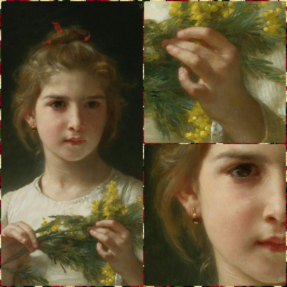 abd38528f967 ByElisabethNL  Art  Beautiful artwork Mimosa by William Adolphe ...