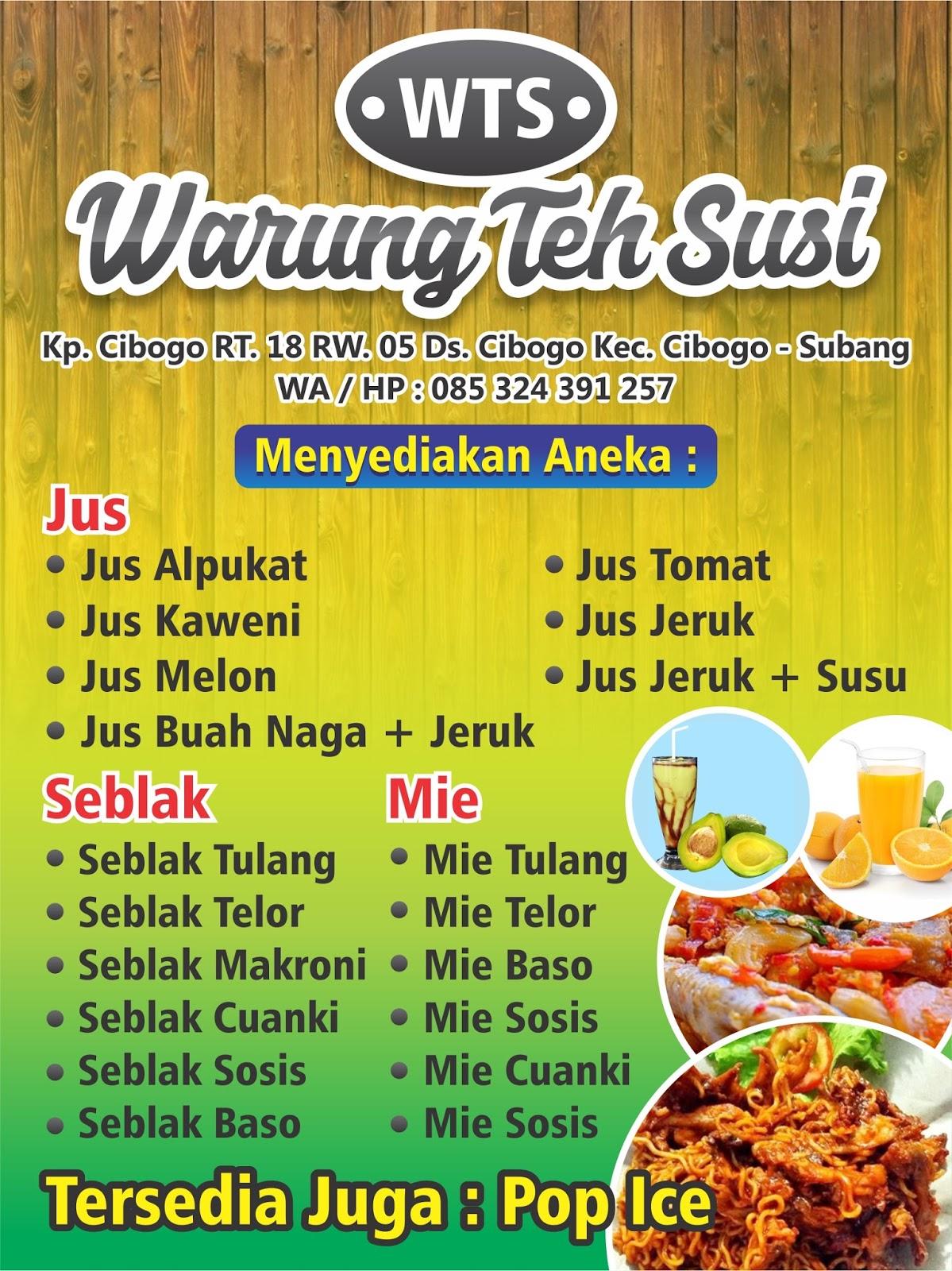 Contoh Banner Warung Seblak