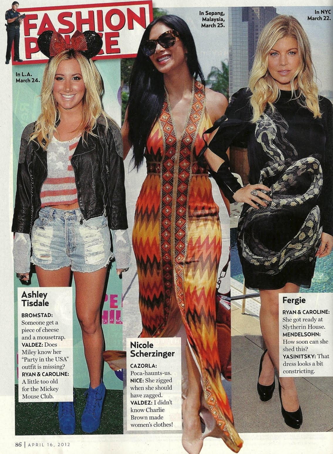 Us Weekly Fashion Police: April 16, 2012