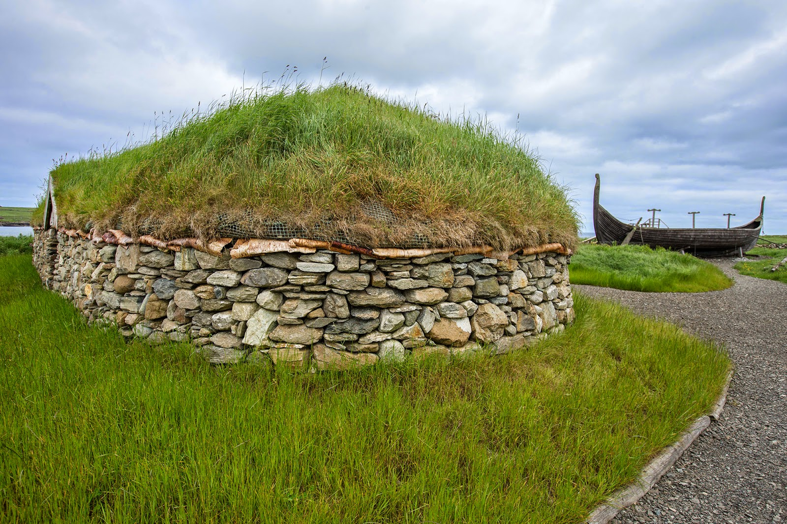 Viking Longhouse, Shetland Islands, Scotland