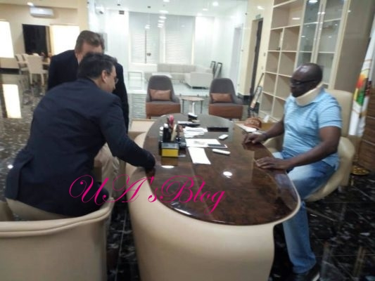 EkitiDecides2018: US Consular General In Ekiti To Monitor Election, Visits Fayose (Photos)