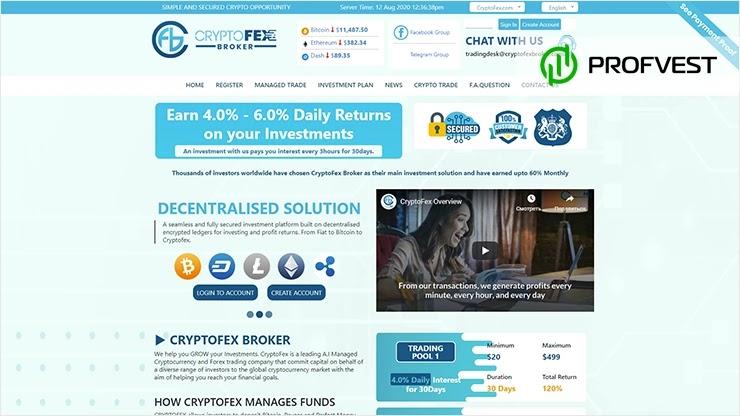 Cryptofex Broker обзор и отзывы HYIP-проекта