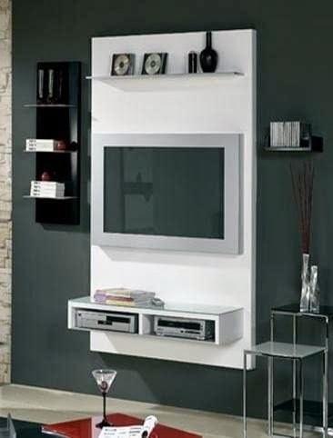 Fotos de muebles de madera para television for Muebles modulares madera