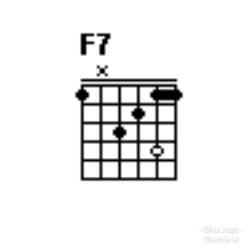 Chord gitar F7