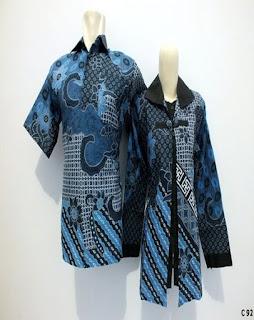 Model Baju Batik Guru Berjilbab