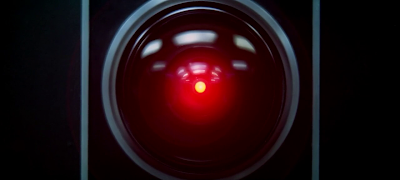 HAL - 9000 sentient supercomputer, 2001: A space Odyssey (1968), directed by Stanley Kubrick
