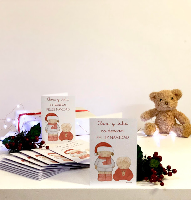 Postales navideñas personalizadas -Clara y Julia