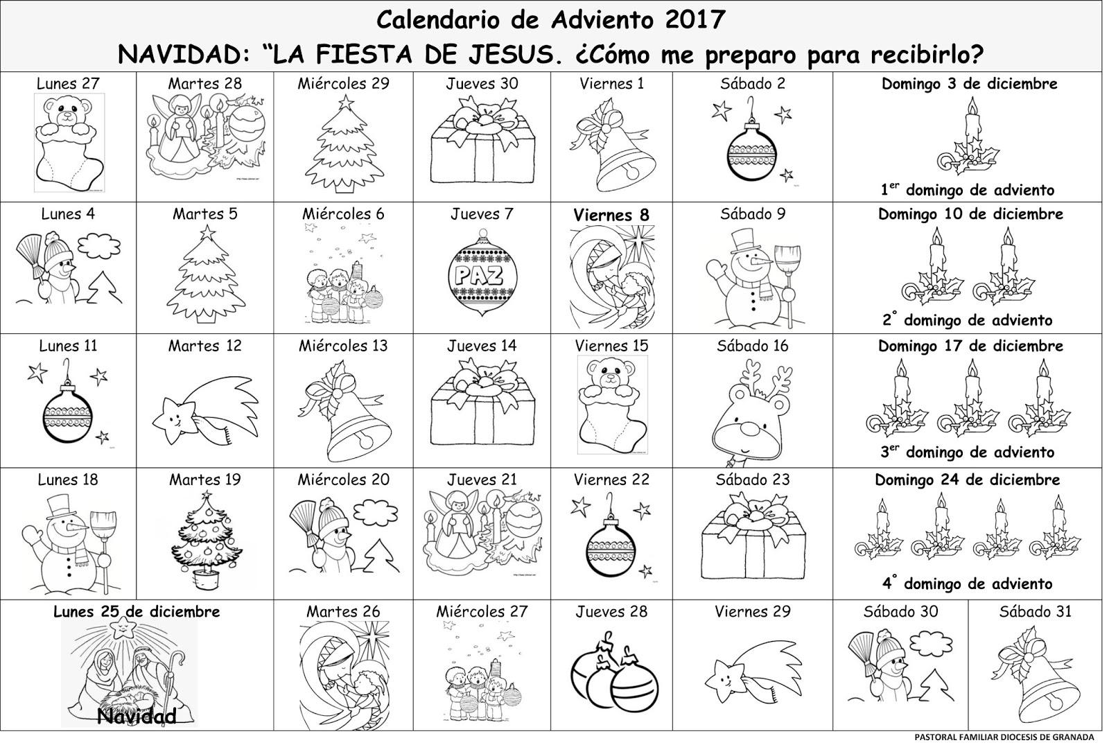 PASTORAL FAMILIAR ARCHIDIOCESIS DE GRANADA: CALENDARIOS DE ADVIENTO ...