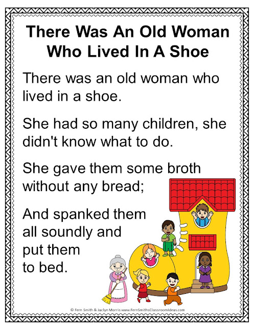 There Was An Old Lady Who Lived In A Shoe : there, lived, There, Woman, Lived, Color, Number, Remediation, Numbers, Smith's, Classroom, Ideas!