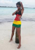 вязаное пляжное платье крючком