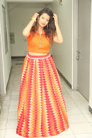Shubhangi Bant in Orange Lehenga Choli Stunning Beauty ~  Exclusive Celebrities Galleries 076.JPG