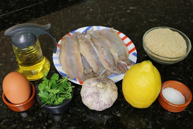 Ingredientes para bacaladillas empanadas